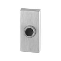 Türklingel mit schwarzer Druckknopf GPF9826.01 rechteckig 70x32x10 mm Edelstahl gebürstet
