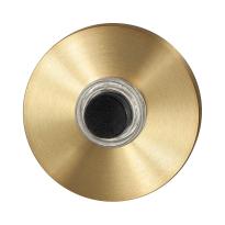 Türklingel mit schwarzer Druckknopf GPF9826.09P4 rund 50x8 mm PVD Messing Satin