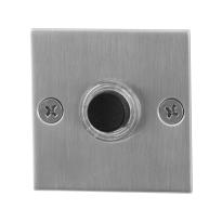 Türklingel mit schwarzer Druckknopf GPF9826.08 quadratisch 50x50x2 mm Edelstahl gebürstet