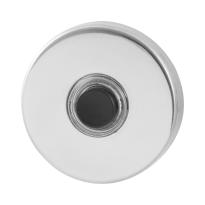 Türklingel mit schwarzer Druckknopf GPF9826.40 rund 50x8 mm Edelstahl poliert