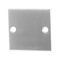 Blindrosette GPF0900.08 50x50x2mm Edelstahl gebürstet