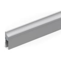 Halteprofil für Türbodendichtung 1000 mm, Edelstahl gebürstet