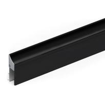 Halteprofil für Türbodendichtung 1000 mm, schwarz