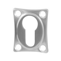 Zylinderrosette GPF0902.09 48x38x5mm Edelstahl gebürstet