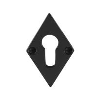Zylinderrosette GPF6902.07 83x52x4mm Schmiedeeisen schwarz