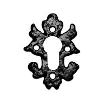 Zylinderrosette KP1063 82x60mm Schmiedeeisen schwarz