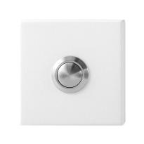 Türklingel mit schwarzer Druckknopf GPF8827.42 rechteckig 70x32x10mm weiß