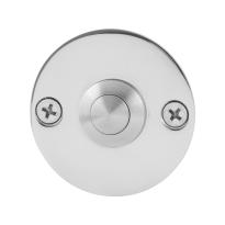 Türklingel mit Edelstahl Druckknopf GPF9827.46 rund 50x2 mm Edelstahl poliert