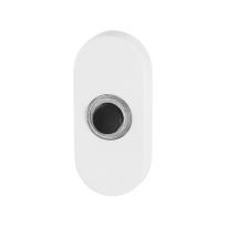 Türklingel mit schwarzer Druckknopf GPF8826.44 oval 70x32x10 mm weiß