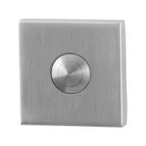 Türklingel GPF9827.02 quadratisch 50x50x8 mm Edelstahl gebürstet