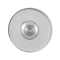 Türklingel mit Edelstahl Druckknopf GPF9827.45 rund 50x6 mm Edelstahl poliert