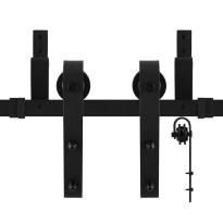GPF0550.61 Doppel Schiebetürensystem Lanka schwarz 150 cm