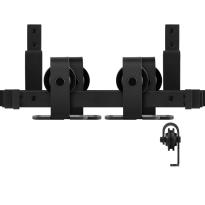 GPF0558.61 Doppel Schiebetürensystem Mutka schwarz