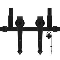 GPF0554.61 Doppel Schiebetürensystem Nuoli schwarz 150 cm