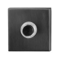 Türklingel mit schwarzer Druckknopf GPF982602P1 quadratisch 50x50x8 mm PVD schwarz