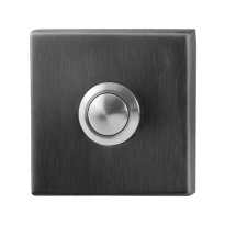 Türklingel mit schwarzer Druckknopf GPF982702P1 quadratisch 50x50x8 mm PVD schwarz