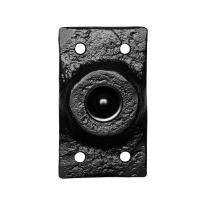 Türklingel KP4748 rechteckig 45x78 mm Schmiedeeissen schwarz