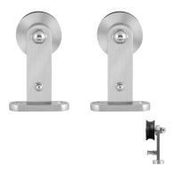 GPF0512.09 Schiebetürhänger Set Kiva Edelstahl i.A. zusätzliche Tür