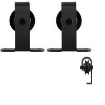 GPF0508.61 Schiebetürhänger Set Mutka schwarz i.A. zusätzliche Tür