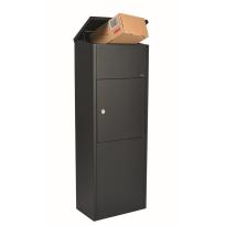 Paketbriefkasten schwarz, 1050x380x230 mm