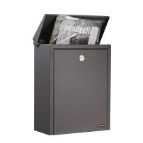 Briefkasten anthrazit, 390x280x150 mm