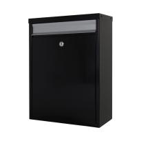 Mailbox schwarz/silber, 470x340x170 mm