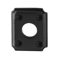 Rosette GPF6100.02 59x48x6mm Schmiedeeisen schwarz