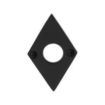 Rosette GPF6100.07 83x52x4mm Schmiedeeisen schwarz