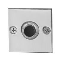 Türklingel mit schwarzer Druckknopf GPF9826.48 quadratisch 50x50x2 mm Edelstahl poliert