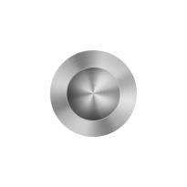 Schiebetürmuschel Edelstahl gebürstet GPF0710.09B