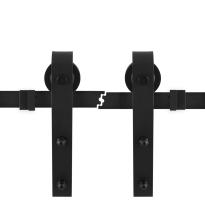 Schiebetürsystem industriell schwarz 2x100 cm