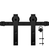 GPF0500.61 Schiebetürsystem Lanka schwarz 200 cm