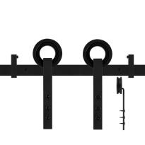GPF0505.61 Schiebetürsystem Neula schwarz 170cm