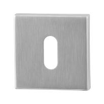 Schlüsselrosette GPF0901.02 50x50x8mm Edelstahl gebürstet