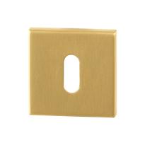 Schlüsselrosette GPF0901.02P4 50x50x8mm PVD Satin Messing