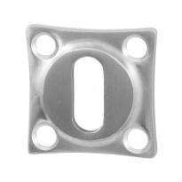 Schlüsselrosette GPF0901.09 38x38x5mm Edelstahl gebürstet