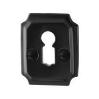 Schlüsselrosette GPF6901.02 48x40x6mm Schmiedeeisen schwarz