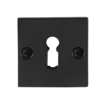 Schlüsselrosette GPF6901.08 52x52x4mm Schmiedeeisen schwarz