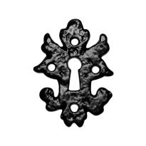 Schlüsselrosette KP1064 82x60mm Schmiedeeisen schwarz