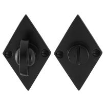 Toilettengarnituren GPF6910.07 83x52x4mm Toilettenstift 8mm Schmiedeeisen schwarz