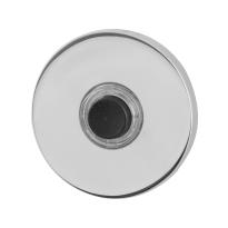Türklingel mit schwarzer Druckknopf GPF9826.45 rund 50x6 mm Edelstahl poliert