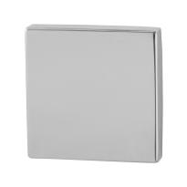 Blindrosette GPF0900.42 50x50x8mm Edelstahl poliert