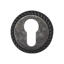 Zylinderrosette 1351/BY 51x10mm Chrom Antik