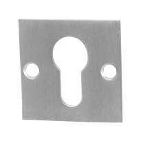Zylinderrosette GPF0902.08 50x50x2mm Edelstahl gebürstet