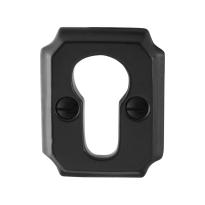 Zylinderrosette GPF6902.02 51x40x6mm Schmiedeeisen schwarz