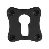 Zylinderrosette GPF6902.09 52x52x5mm Schmiedeeisen schwarz