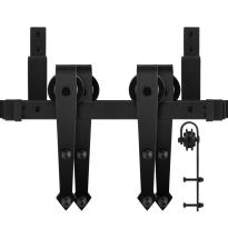 GPF0554.61 Doppel Schiebetürensystem Nuoli schwarz