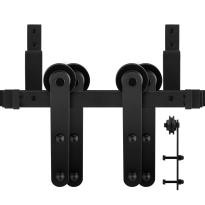 GPF0557.61 Doppel Schiebetürensystem Varsi schwarz