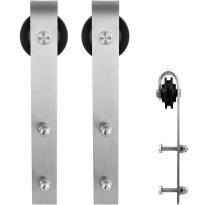 GPF0500.09 Schiebetürhänger Set Lanka Edelstahl i.A. zusätzliche Tür