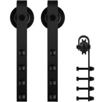 GPF0501.61 Schiebetürhänger Set Raskas schwarz i.A. zusätzliche Tür